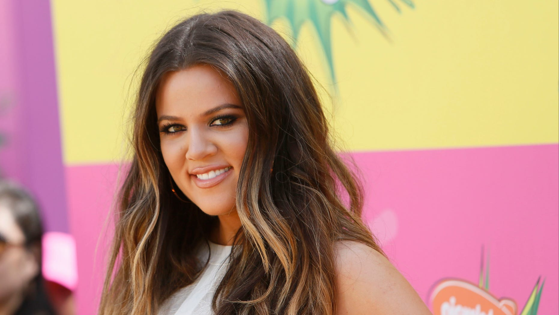 March 23, 2013. Khloe Kardashian arrives at the 2013 Kids Choice Awards in Los Angeles, California.