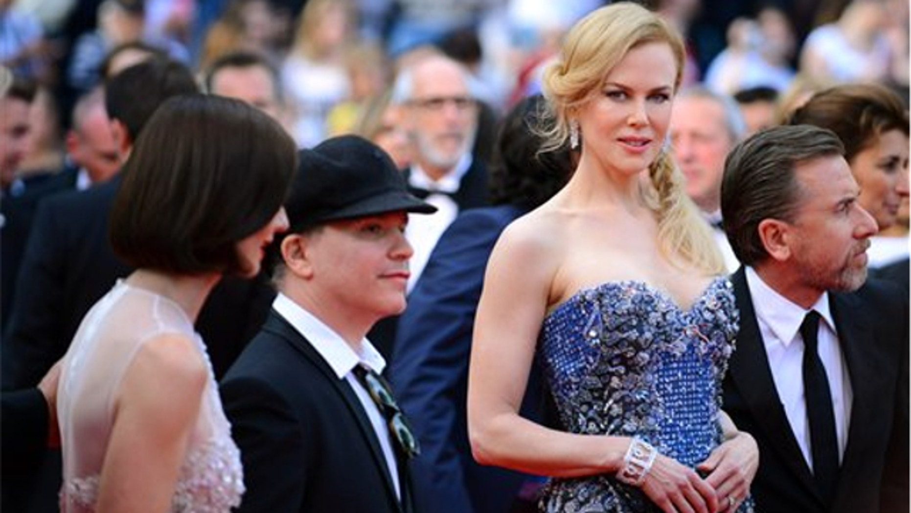 May 14, 2014: From left, actress Paz Vega, director Olivier Dahan, actors Nicole Kidman and Tim Roth pose on the red carpet during the opening ceremony and the screening of Grace of Monaco at the 67th international film festival, Cannes, southern France.