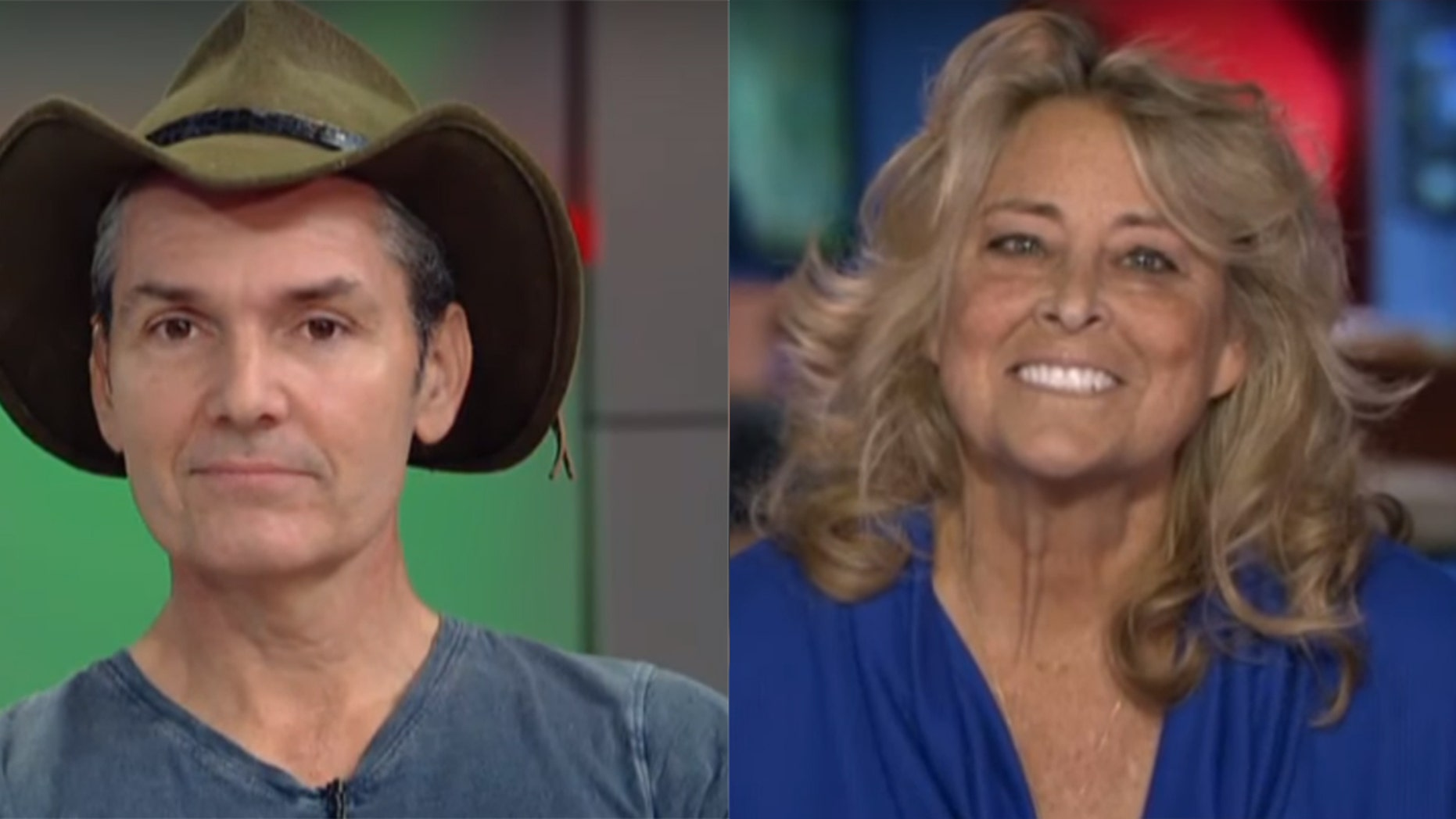 Kevin Shea, left, and Lois Knudson, right, appeared on Fox and Friends in December, but did not meet in-person until Thursday.