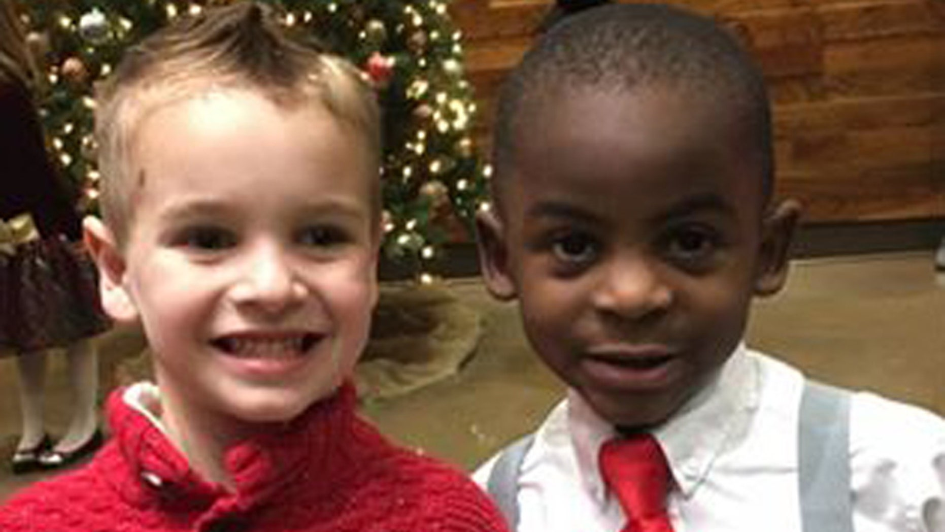 Lydia Stith Rosebush posted the photo of her son and his friend.