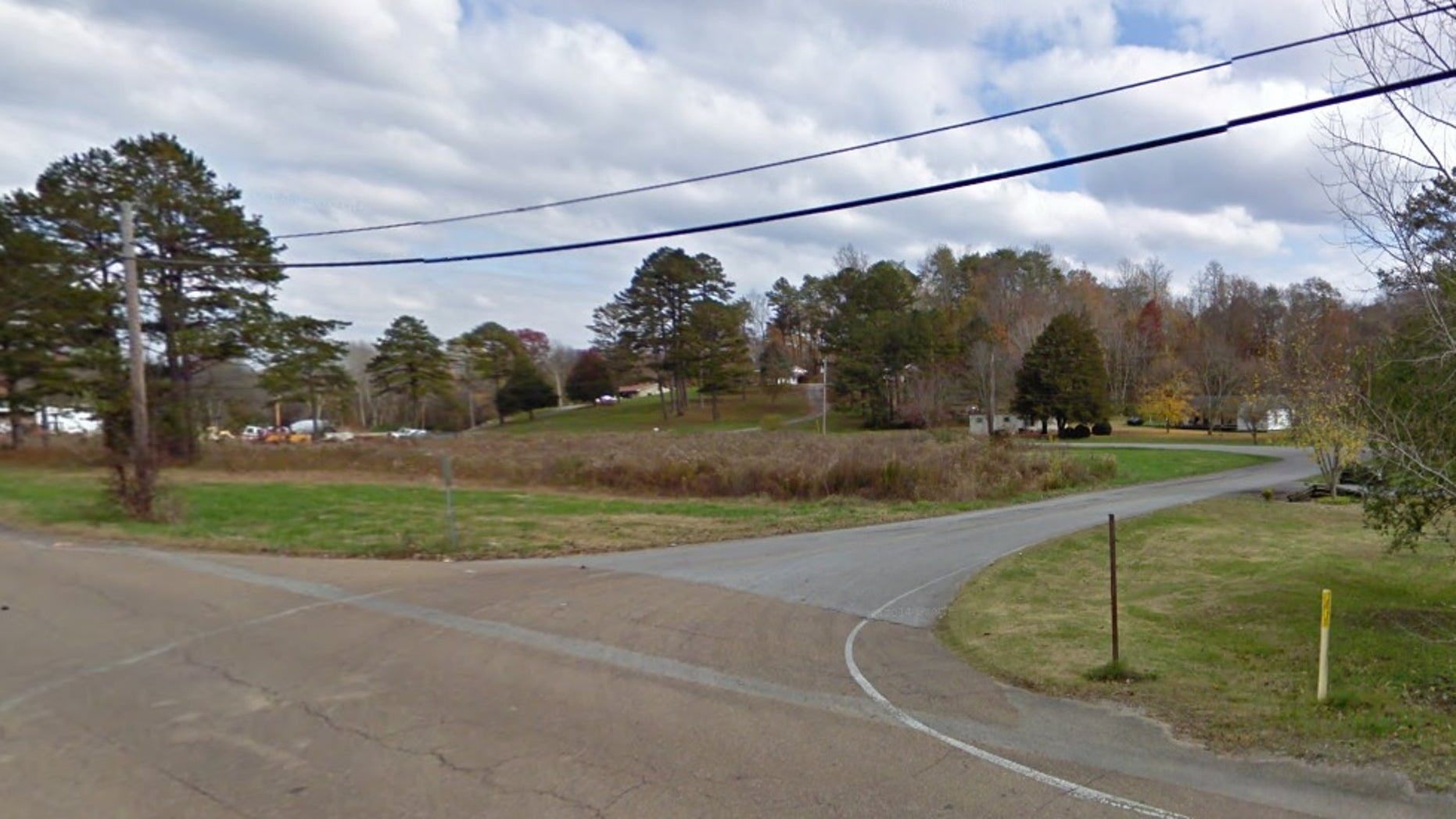 The intersection where investigators say they found the kids walking to school.