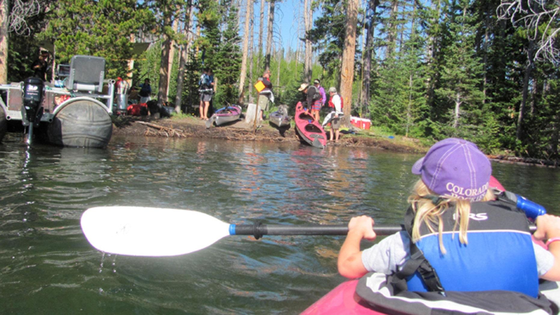 Kayaking on Lake Yellowstone