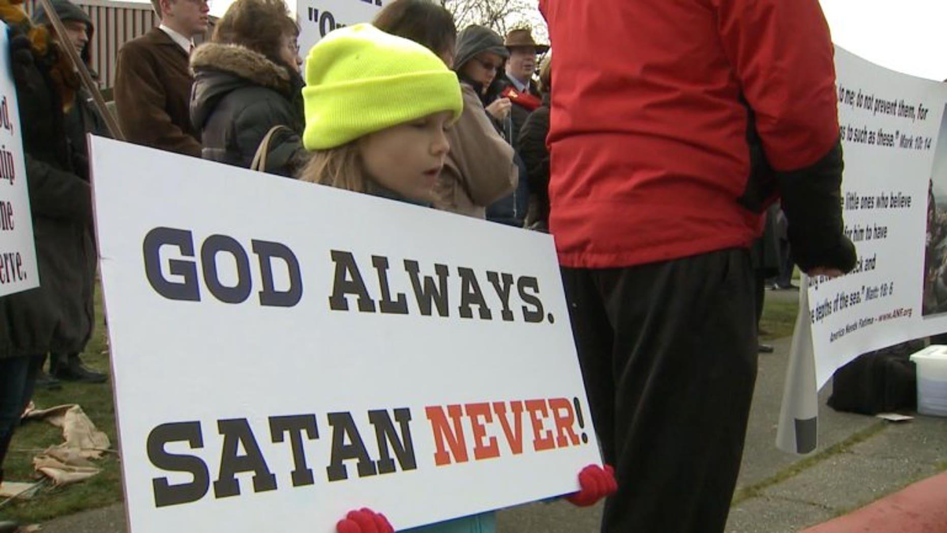 A protester in Washington.