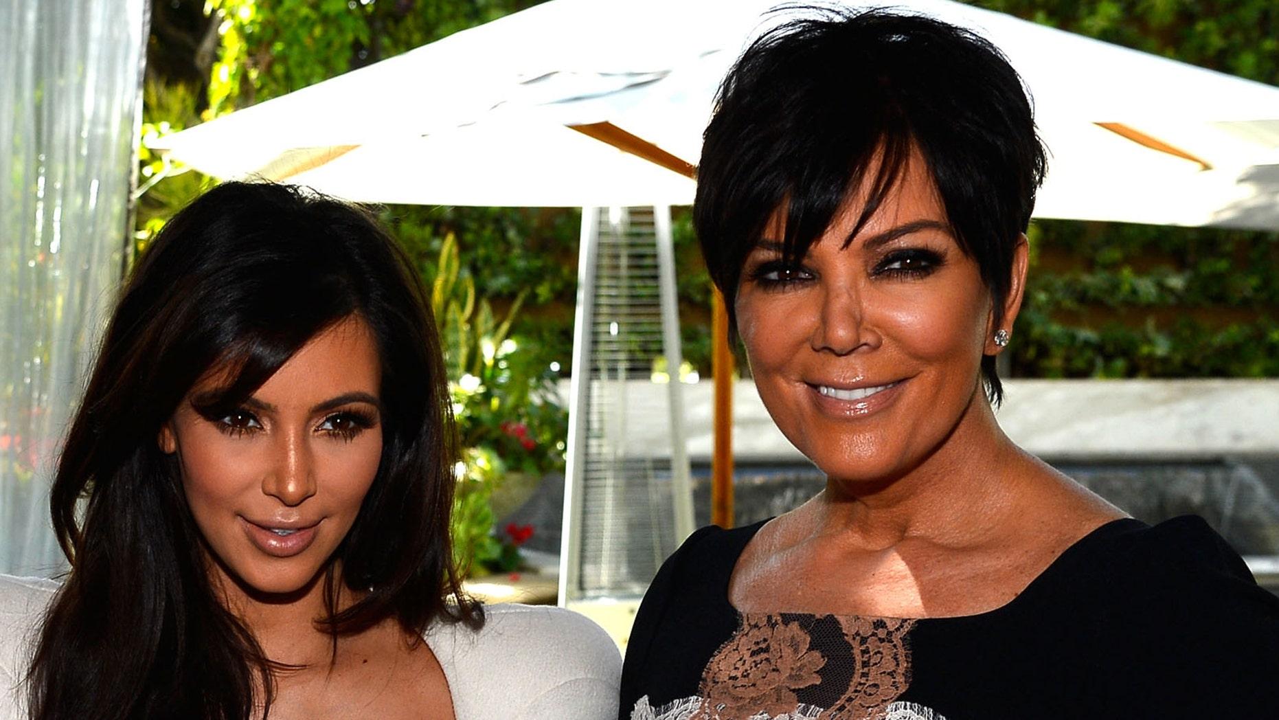 Kim Kardashian and Kris Jenner (Photo by Frazer Harrison/Getty Images)