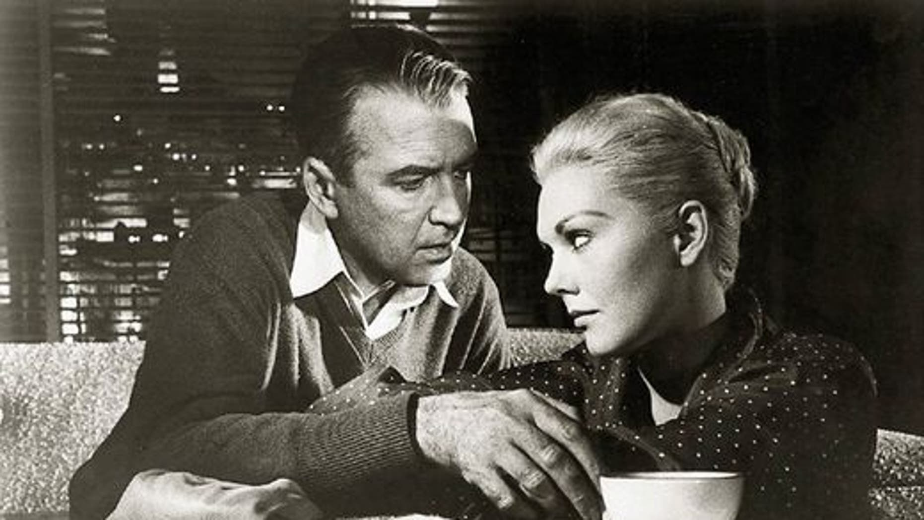 Jimmy Stewart and Kim Novak in 'Vertigo.' (Universal)