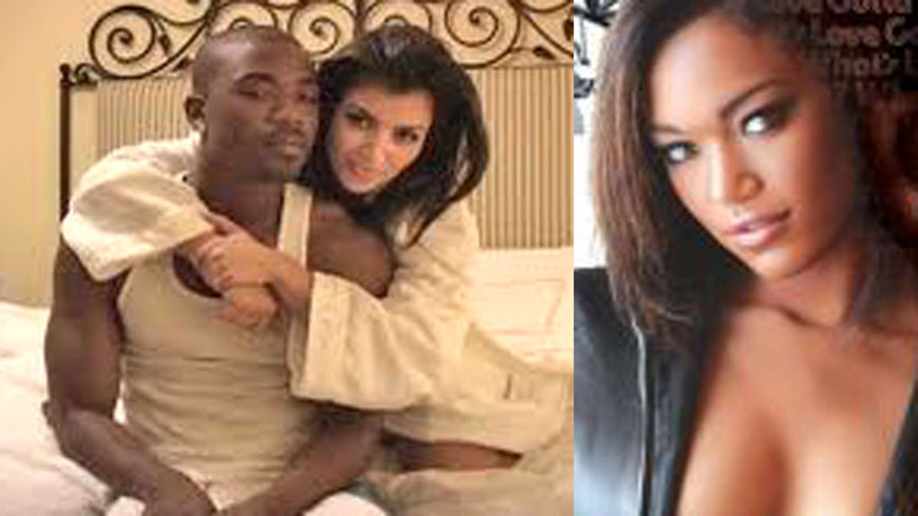 Kim Kardashian and Ray J and Montana Fishburne (right). (Vivid Entertainment)