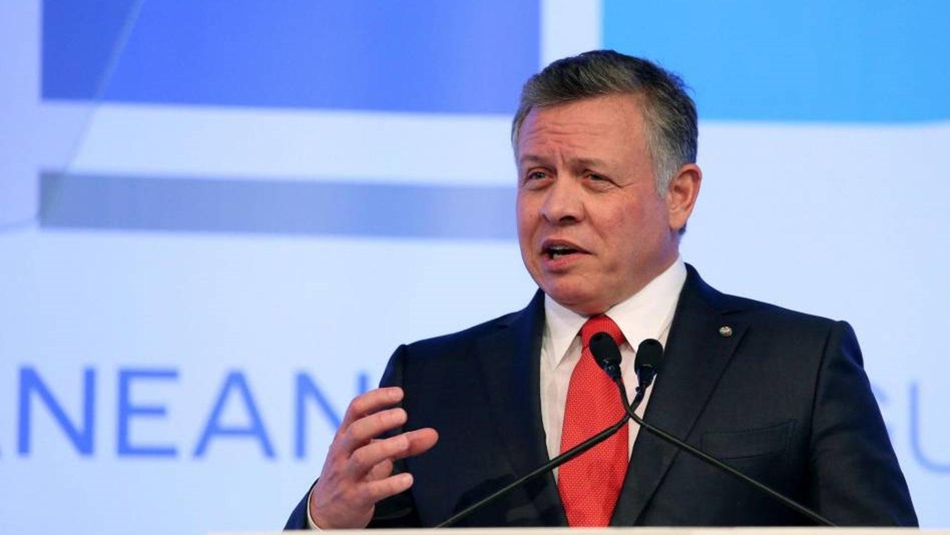 FILE -- Jordan's King Abdullah II