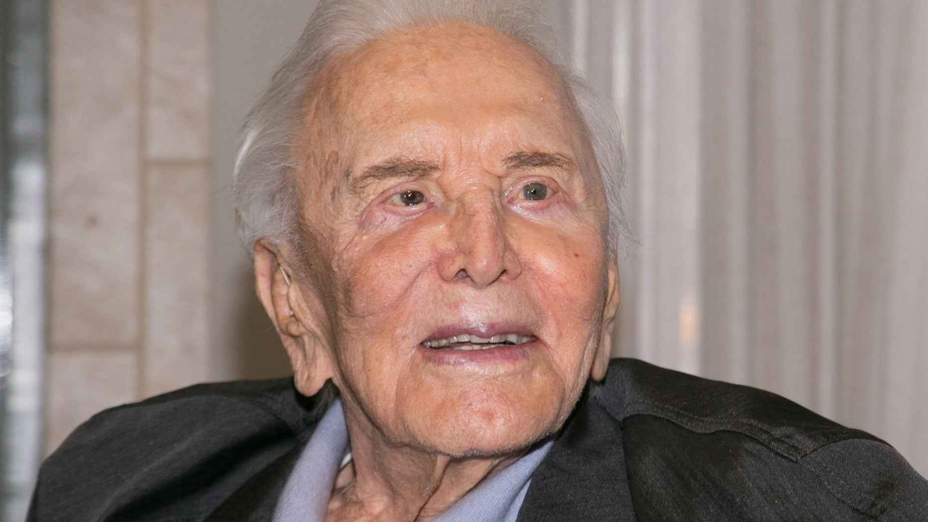 Kirk Douglas was honored with a marker at his New York birthplace.