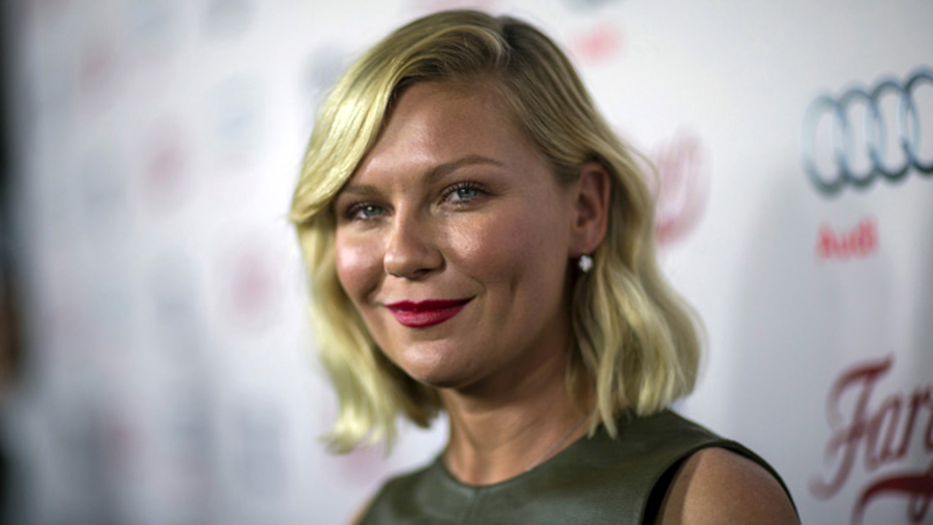 """Cast member Kirsten Dunst poses at a screening of FX Networks' television series """"Fargo."""""""