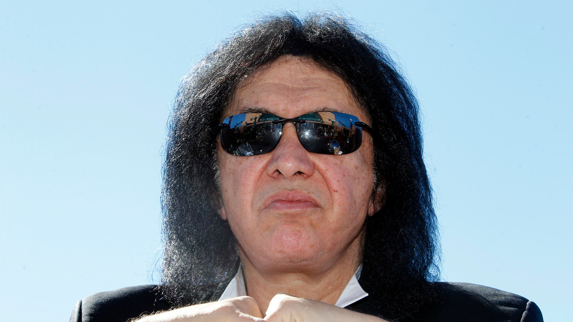 March 10, 2014: Musician Gene Simmons of rock band KISS attends a news conference to announce his part-ownership of Arena Football League team, the Los Angeles Kiss, in Anaheim, California.