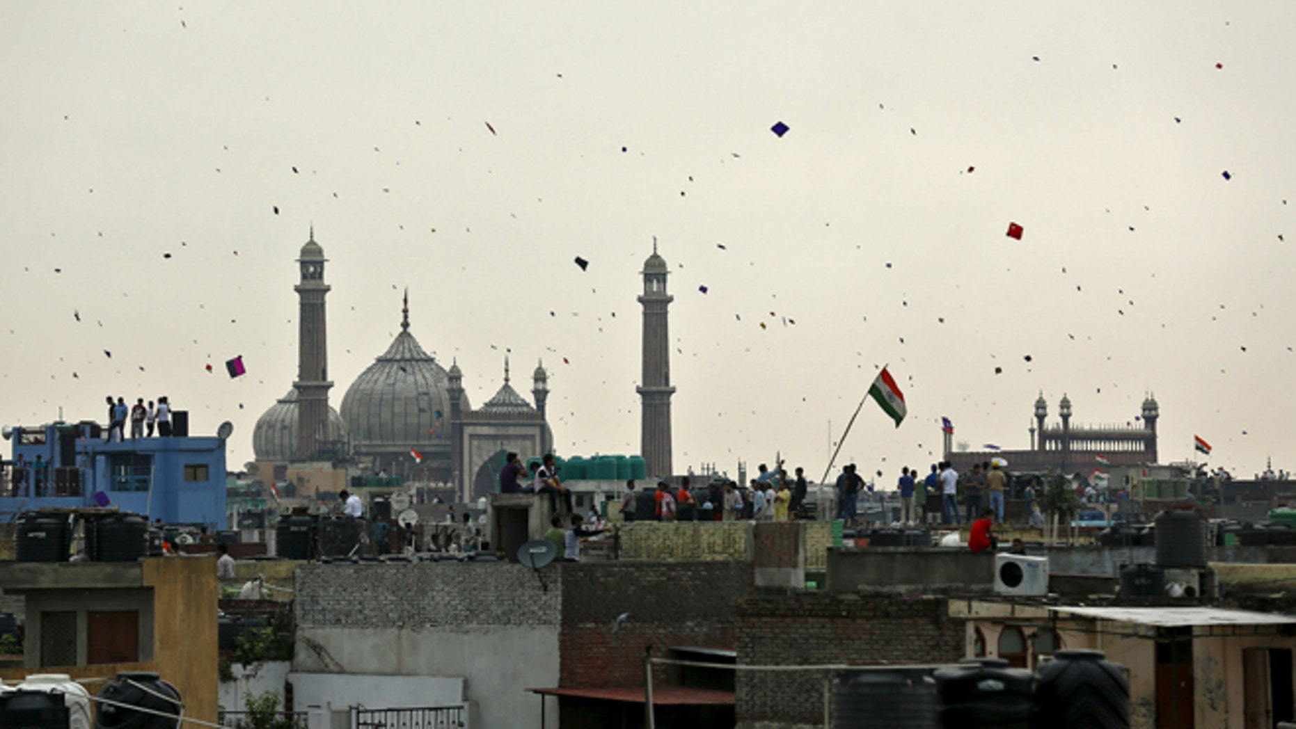 Indian police said three people died after their throats were slit by a glass-coated kite string during the country's Independence Day celebration.
