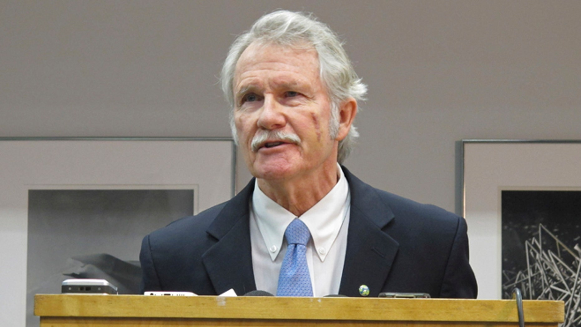 Jan. 30, 2015: Oregon Gov. John Kitzhaber answers questions during a news conference in Portland, Ore.