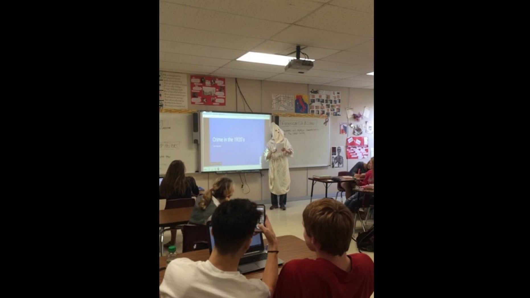 This student's choice of attire for a recent class presentation has angered some students and parents at Westosha Central High School in Salem, Wisconsin.