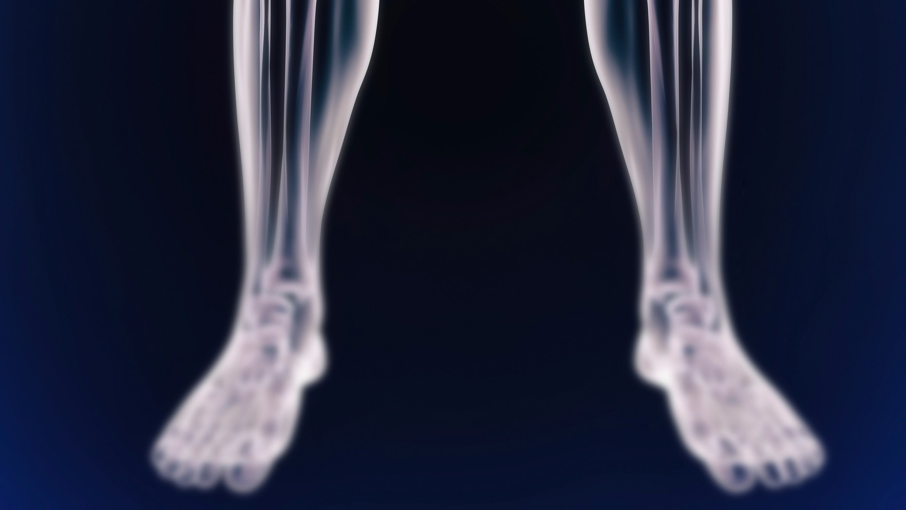 A cgi view of an inflamed joint isolated on blue