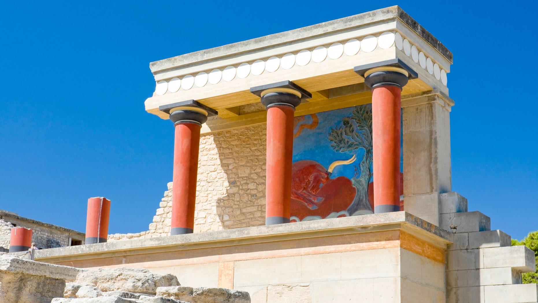 North gate at Knossos palace, Crete, Greece, iStock
