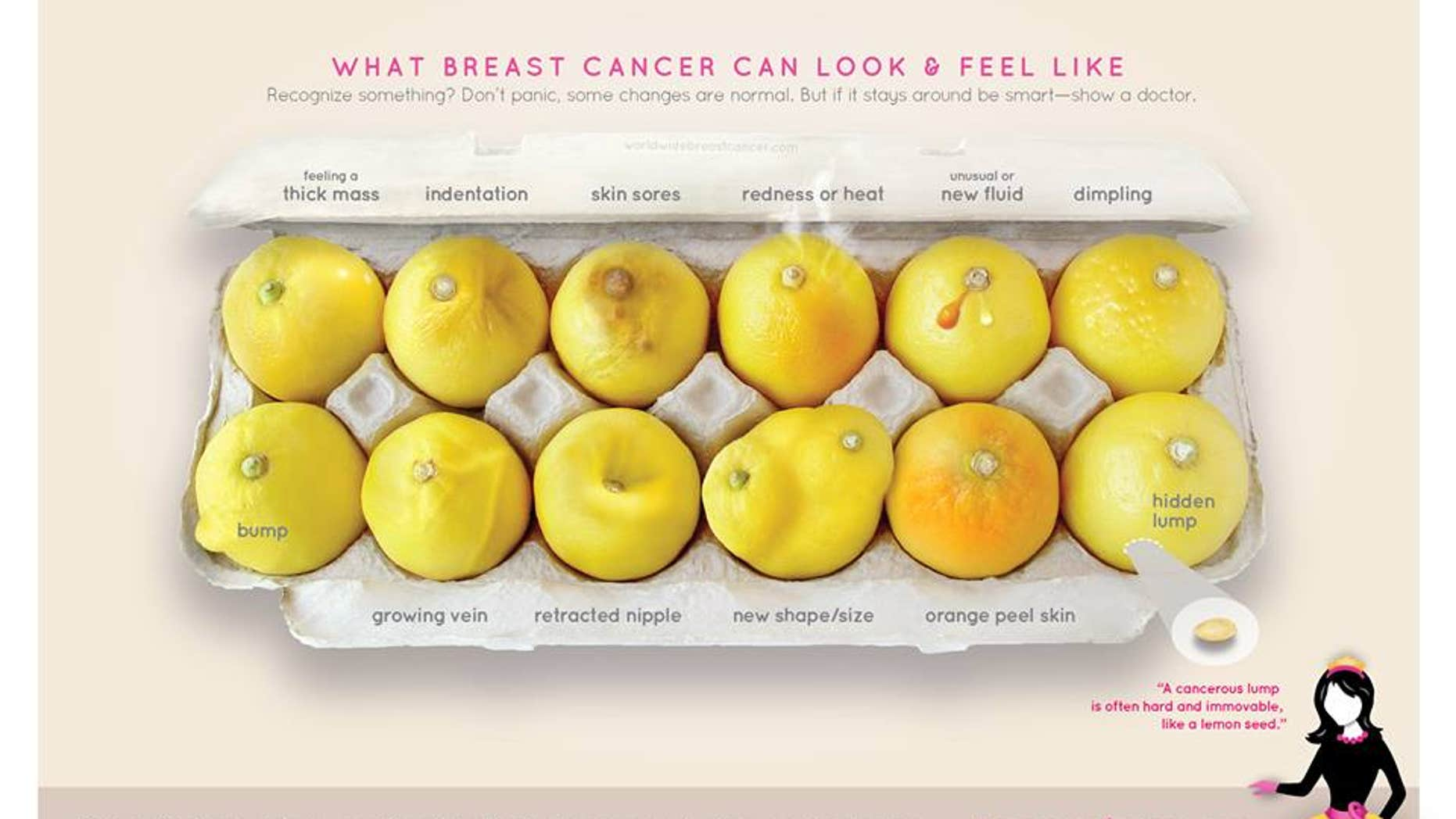12 key signs of breast cancer, as seen in viral image of