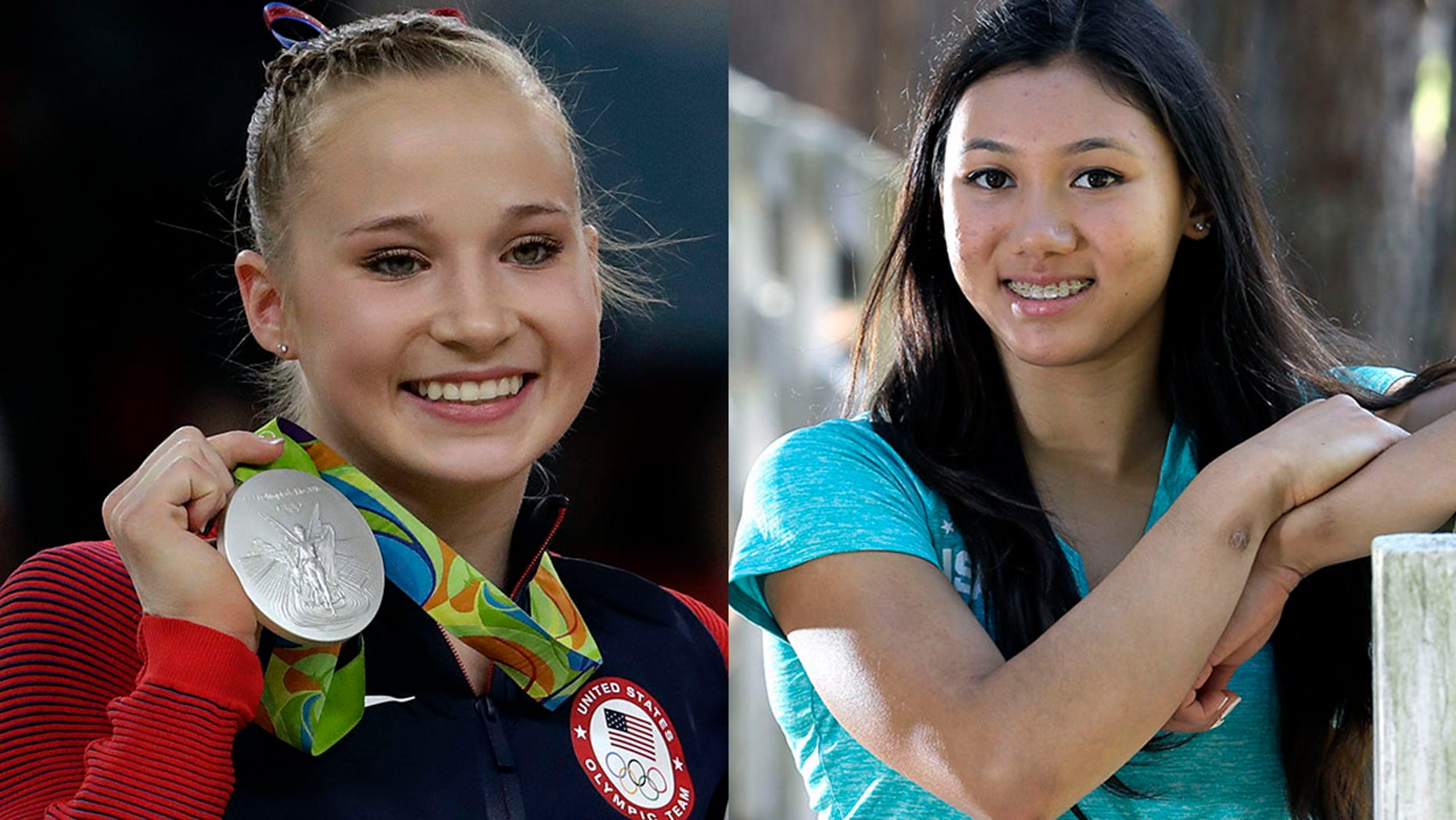Madison Kocian, left, and Kyla Ross have both claimed they were sexually abused by former USA Gymnastics team doctor Larry Nassar.