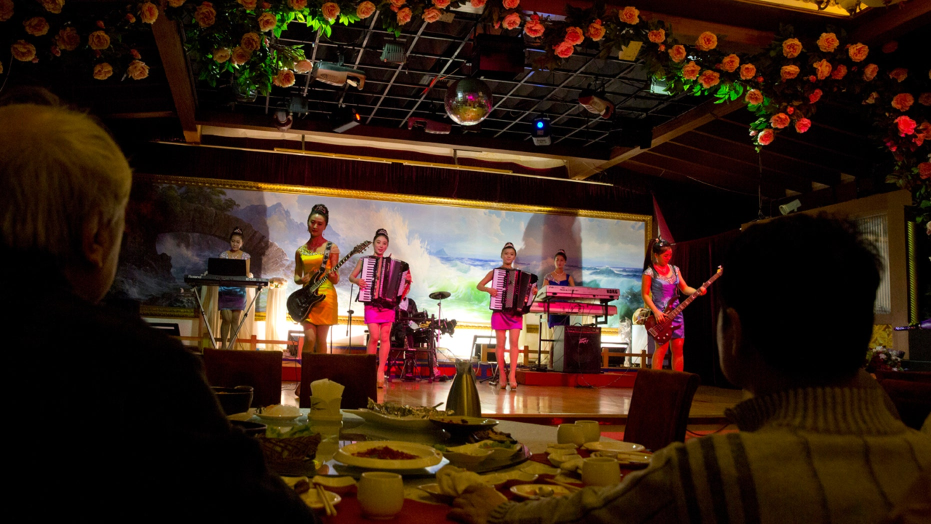 Feb. 18, 2016: North Korean performers entertain customers at the Okryugwan restaurant in Beijing, China.