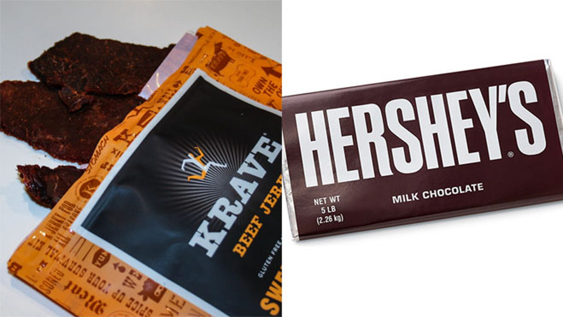 The chocolate company now owns KRAVE, the maker of artisanal beef jerky.