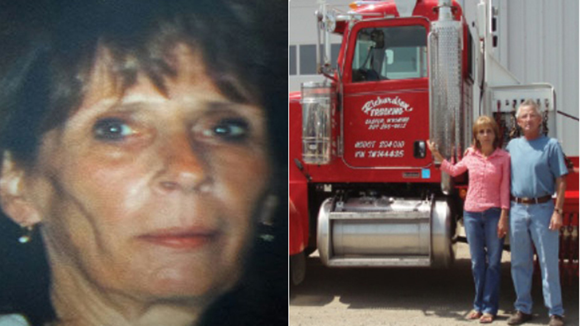 Richardson's husband died in 2013, but she continued to run the thriving trucking company.