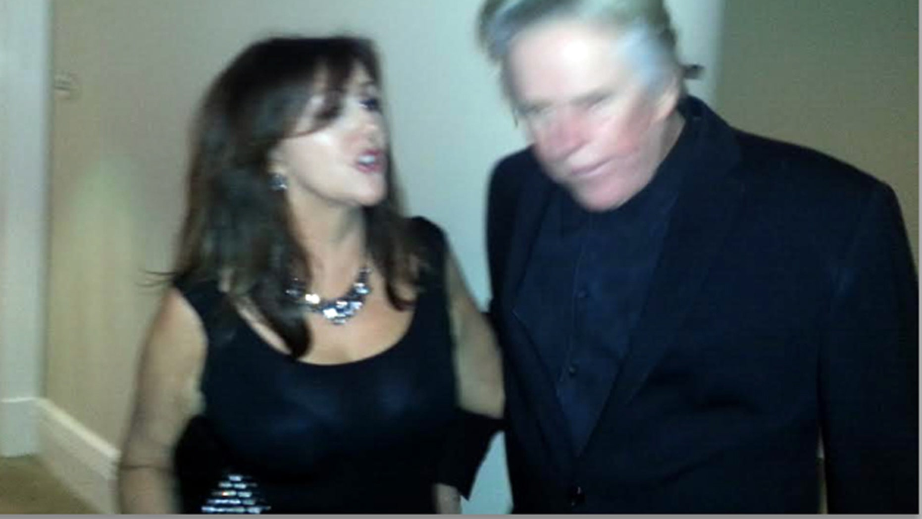 Krista Keller, right, and Gary Busey after the alleged slap took place.