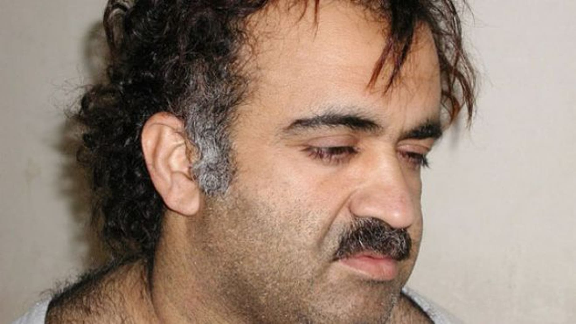 March 1, 2003: Khalid Sheikh Mohammed is shown in this file photograph during his arrest.