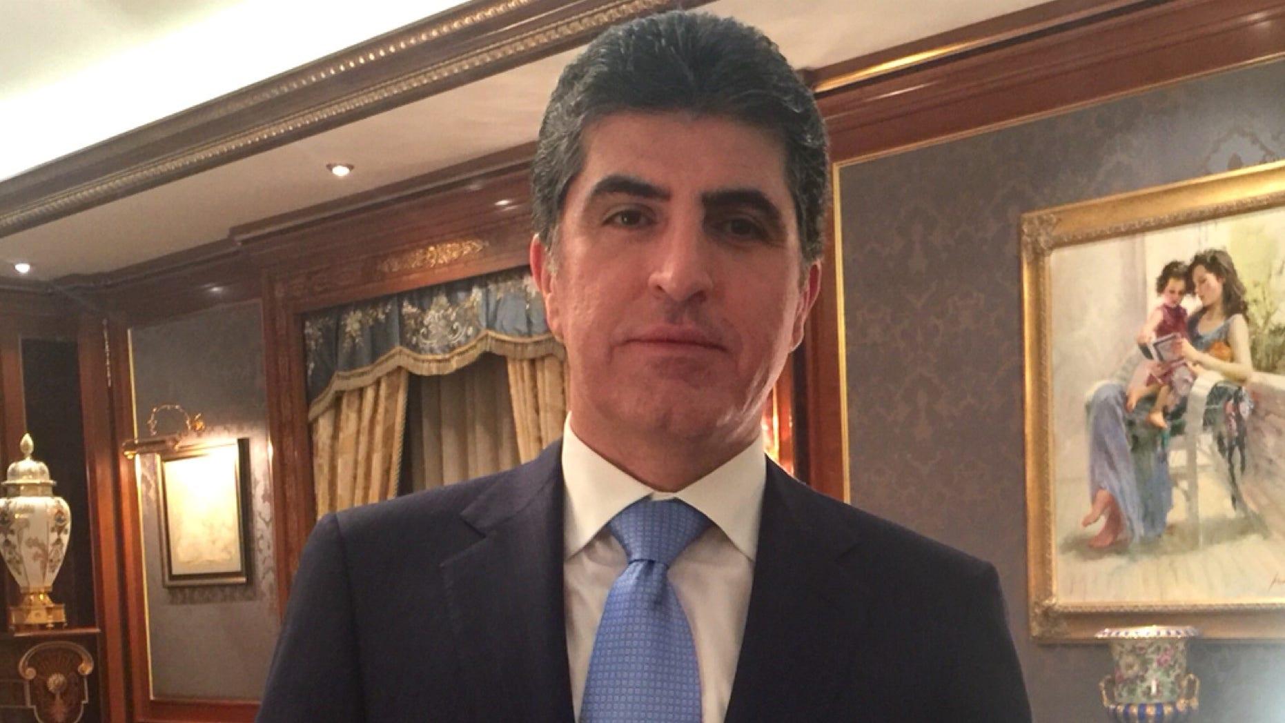 Kurdistan Regional Government Prime Minister Nechiravan Barzani