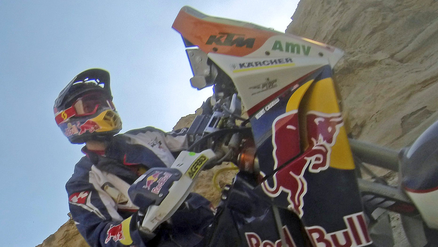 January 8, 2013 Kurt Caselli of the U.S. rides his KTM during the 4th stage of the Dakar Rally 2013 from Nazca to Arequipa.