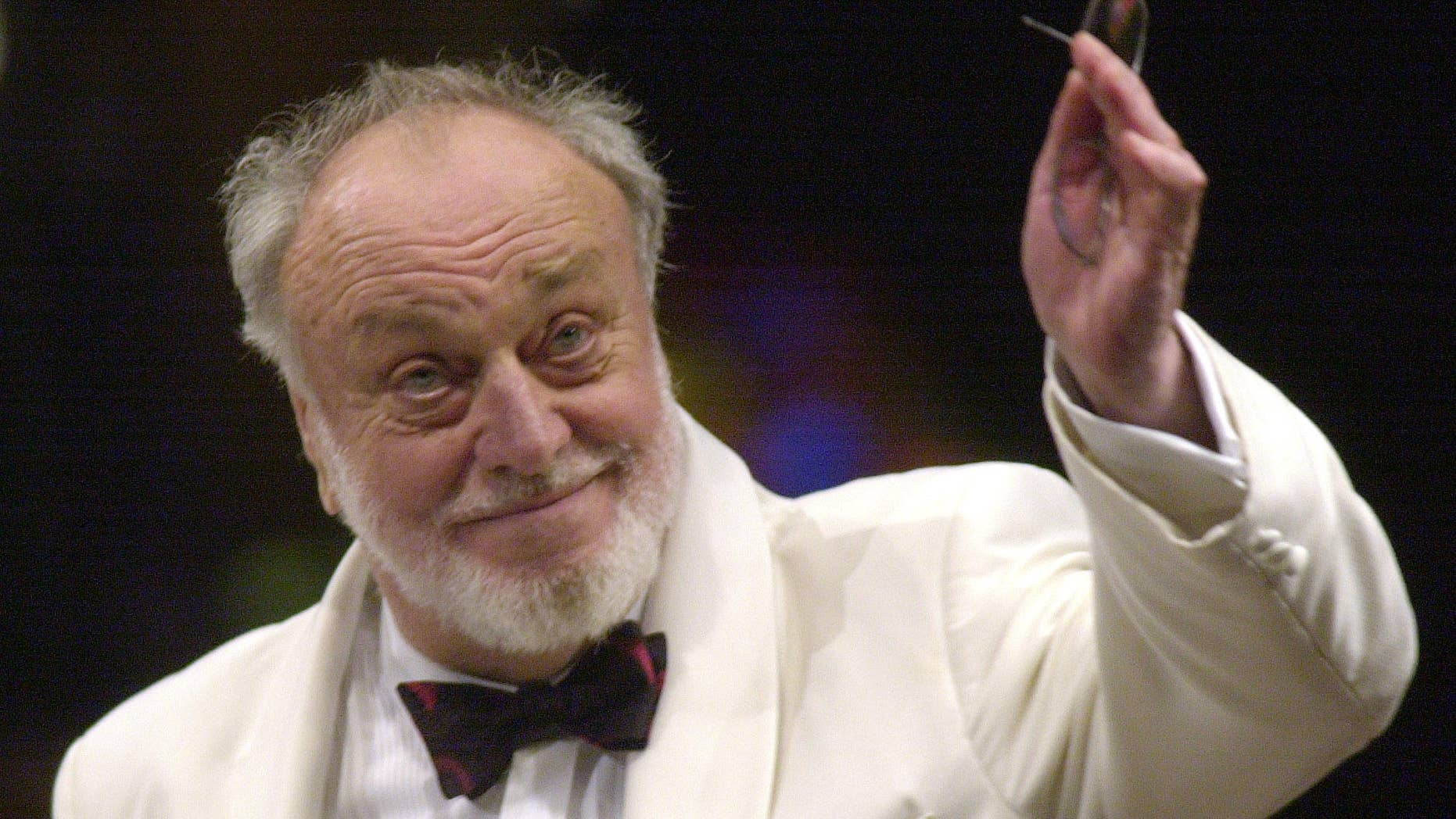 July 18, 2002. Kurt Masur, music director of the New York Philharmonic, gives his final New York performance as director at Lincoln Center.