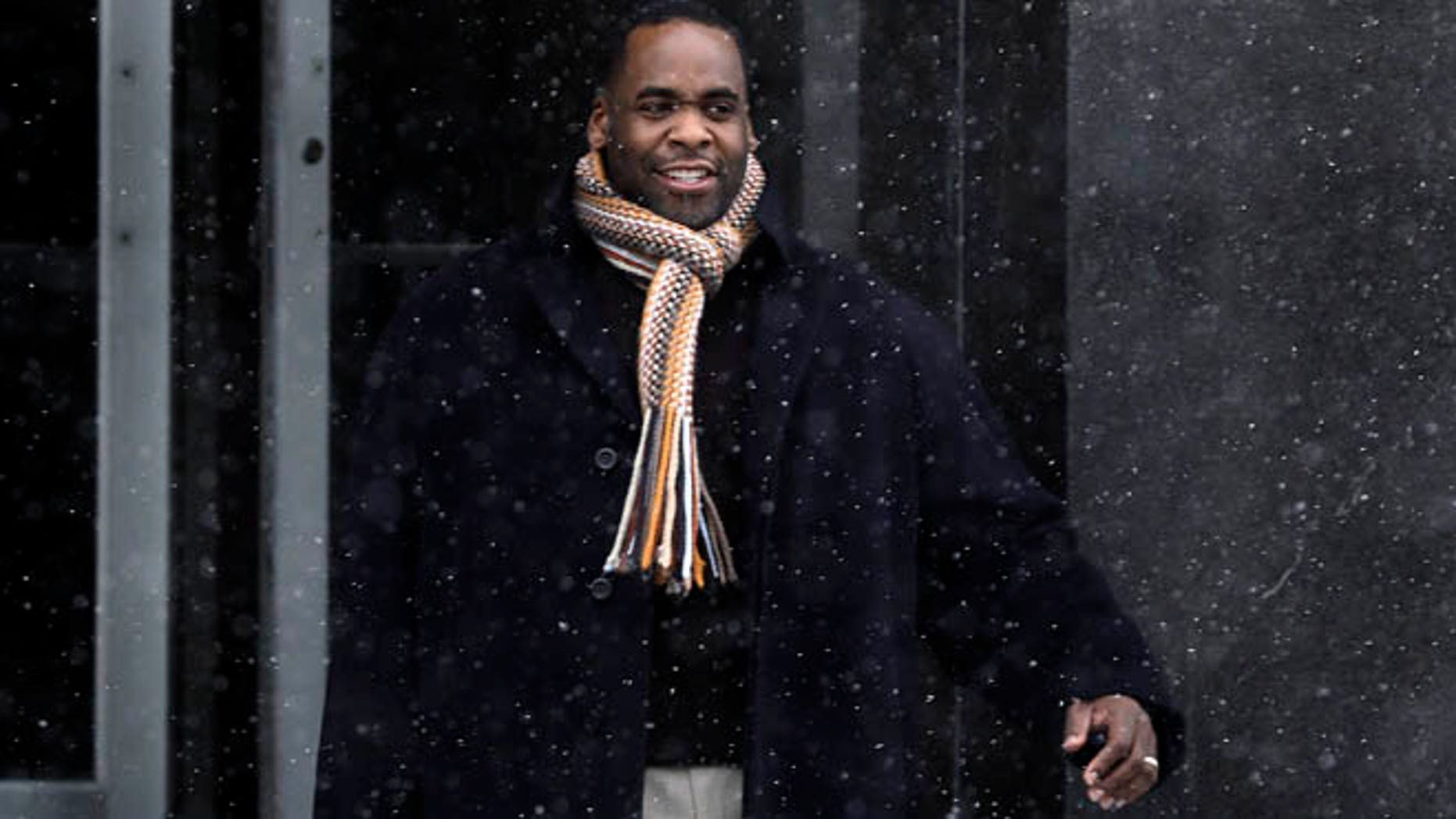 Jan. 25, 2013: In this file photo, former Detroit Mayor Kwame Kilpatrick leaves federal court in Detroit.