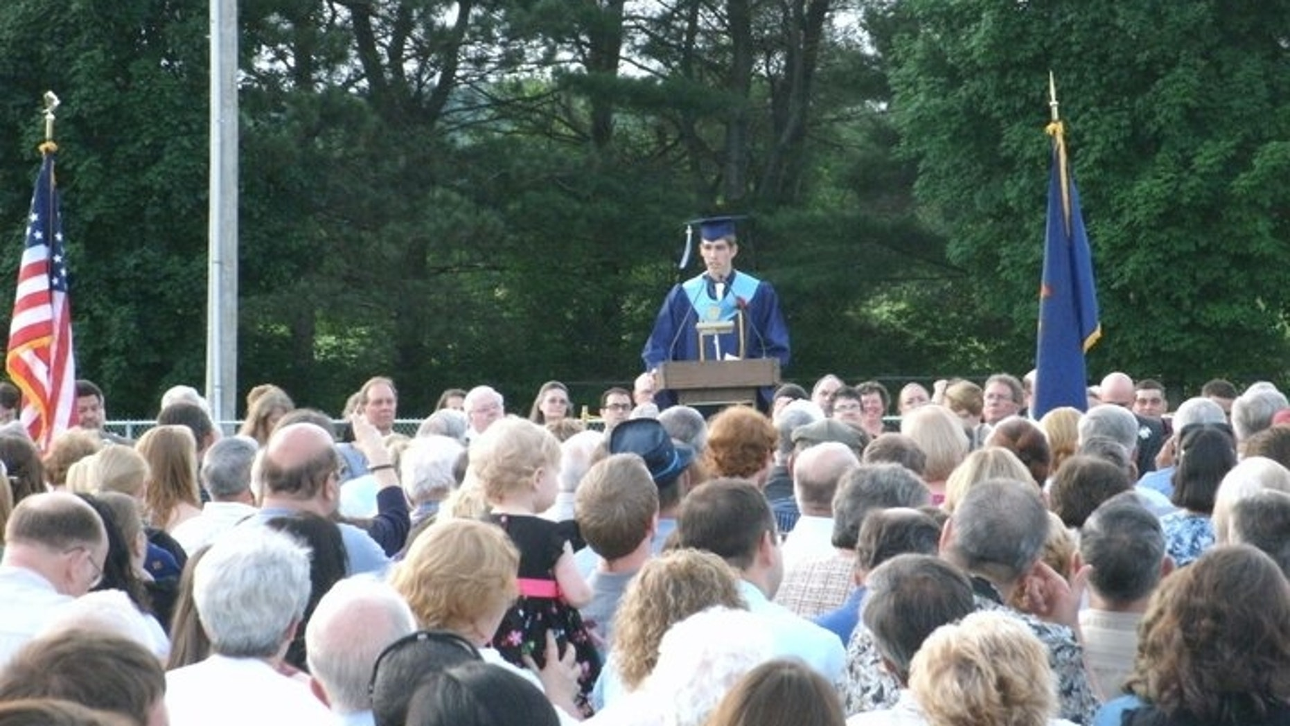 Vermont valedictorian Kyle Gearwar told to he could not speak about Jesus in his graduation speech.