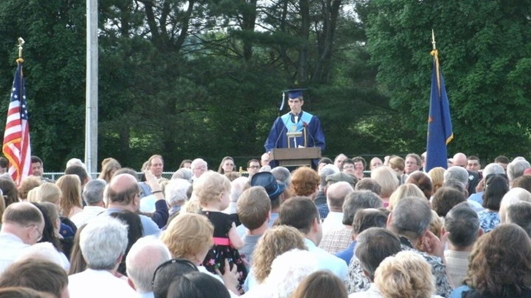 Vermont valedictorian Kyle Gearwar told to he could not speak about Jesus in his graduation speech.