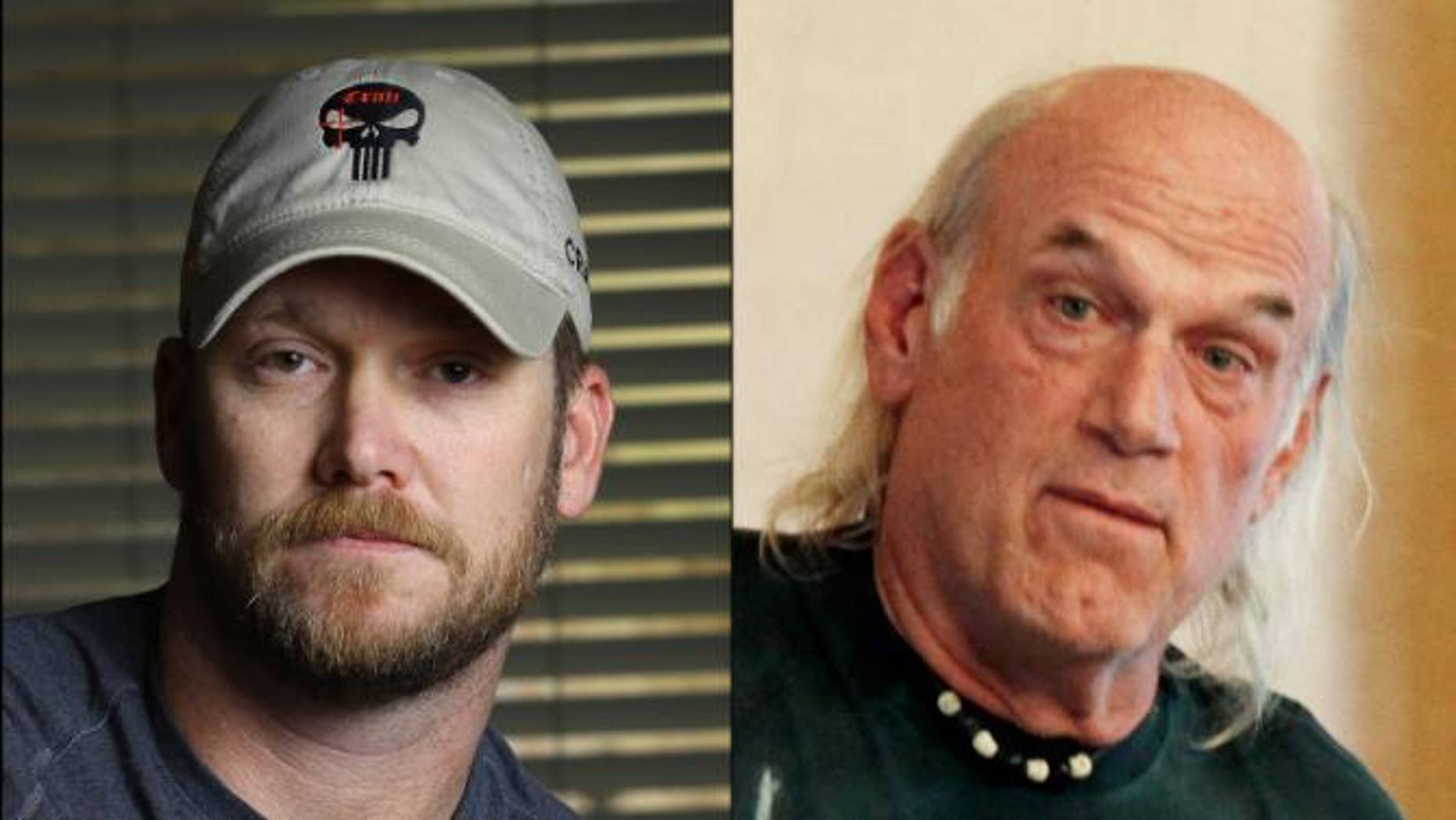 Former Navy SEAL Chris Kyle and former Minnesota Gov. Jesse Ventura. (AP Photo/File)