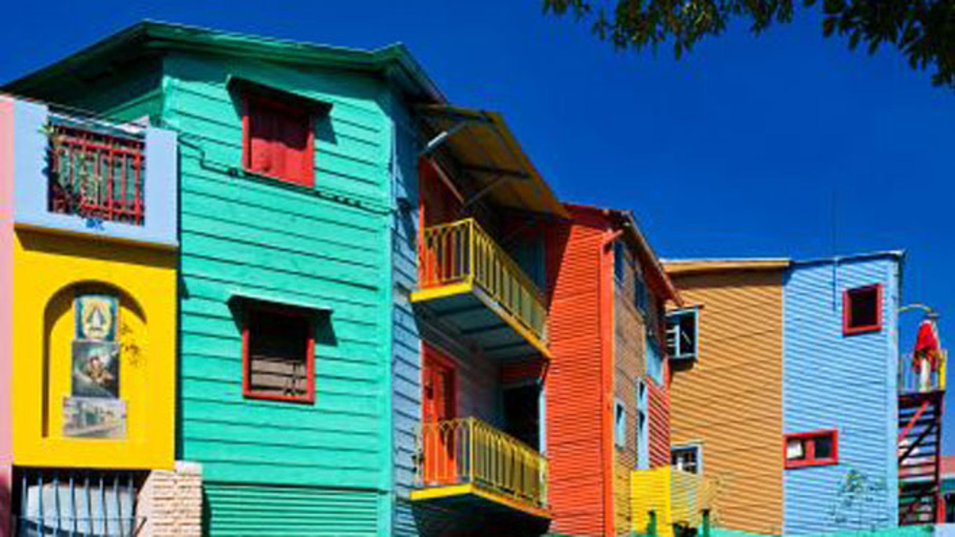 Buenos Aires' La Boca neighborhood has paint-by-numbers conventillo homes, built by Italian immigrants and daubed with vibrant primaries.