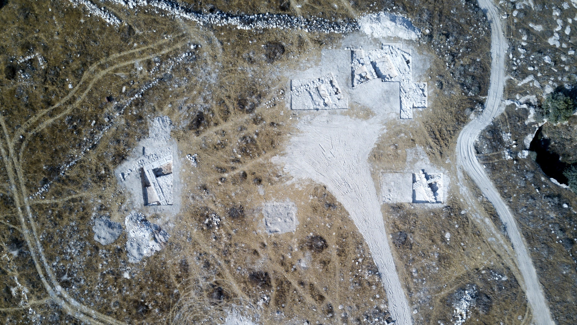 Area of the large structure, possibly a temple or palace, uncovered in the dig.