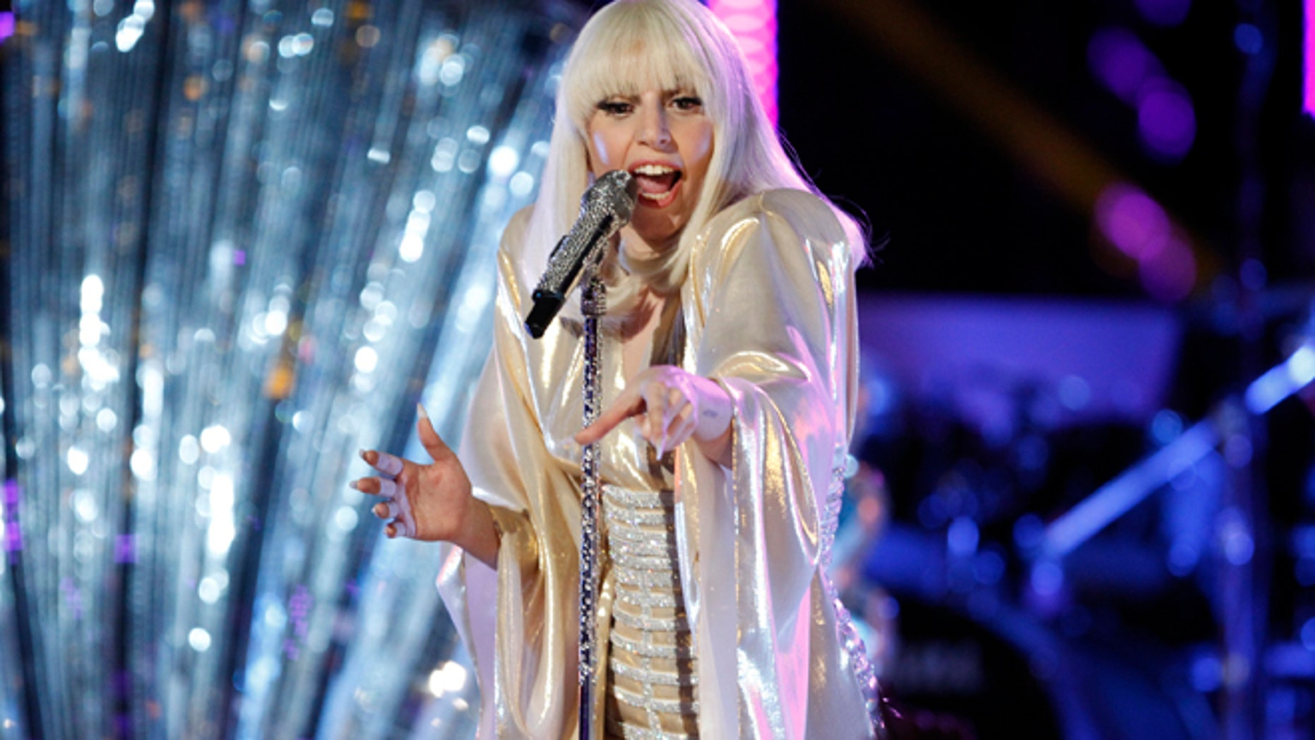 Dec. 17, 2013: Lady Gaga performs during the season five finale of The Voice in Los Angeles.