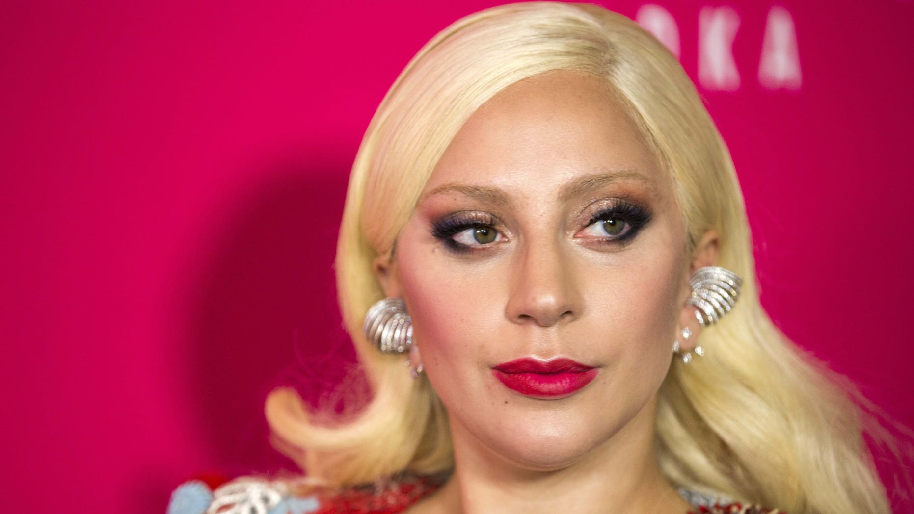 """October 19, 2015. Singer Lady Gaga arrives for the premiere of the film """"Rock the Kasbah"""" in New York."""
