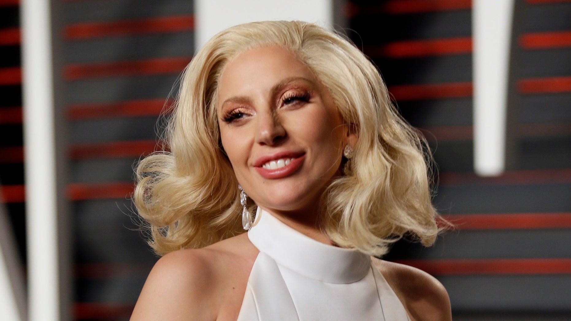 Lady Gaga at the Vanity Fair Oscar party in 2016.