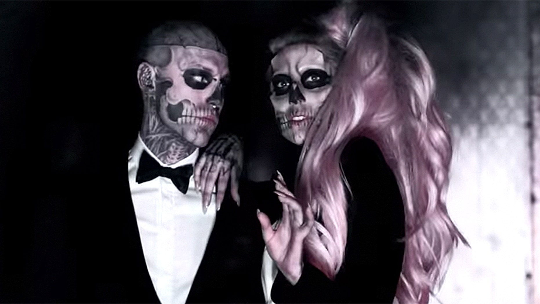 """Zombie Boy (left) appeared in Lady Gaga's music video for """"Born This Way."""""""