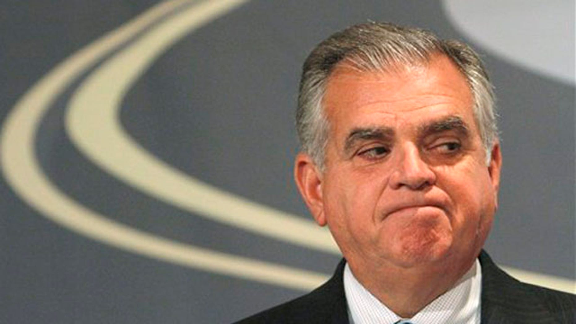 FILE: Transportation Secretary Ray LaHood listens as families of victims of distracted driving accidents speak at the Distracted Driving Summit in Washington Sept. 21.