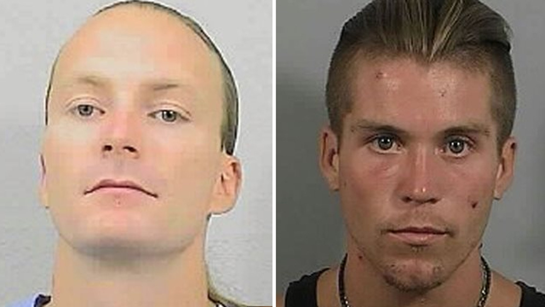 UNDATED: This image provided by California Department of Corrections and Rehabilitation shows  Tobias Summers, left, and Daniel Martinez.