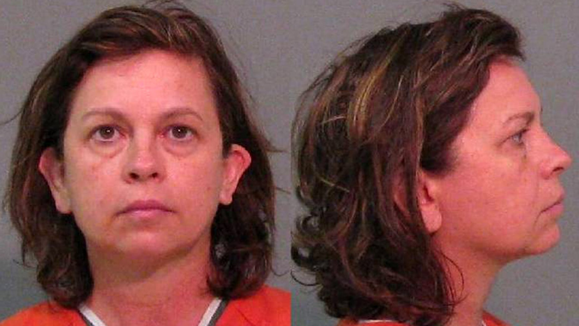 Mug shot for Lana Sue Clayton, 52, charged with killing husband with eye drops.