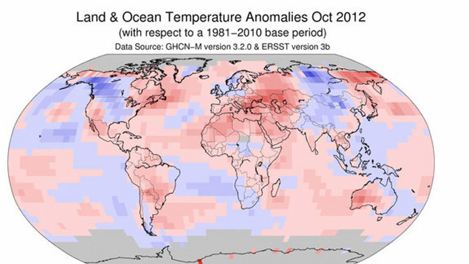 October ranked as the fifth warmest on record for global combined land and sea-surface temperatures.