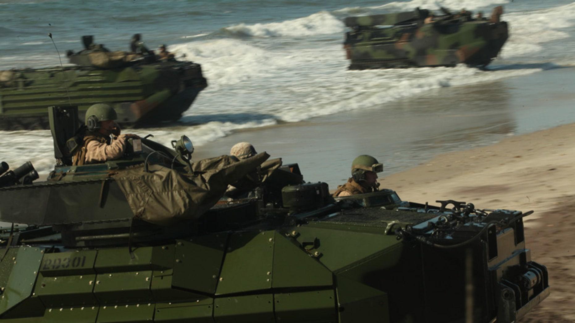 May 9, 2012: U.S. Marines make landfall during on Onslow Beach, Camp Lejeune, N.C.