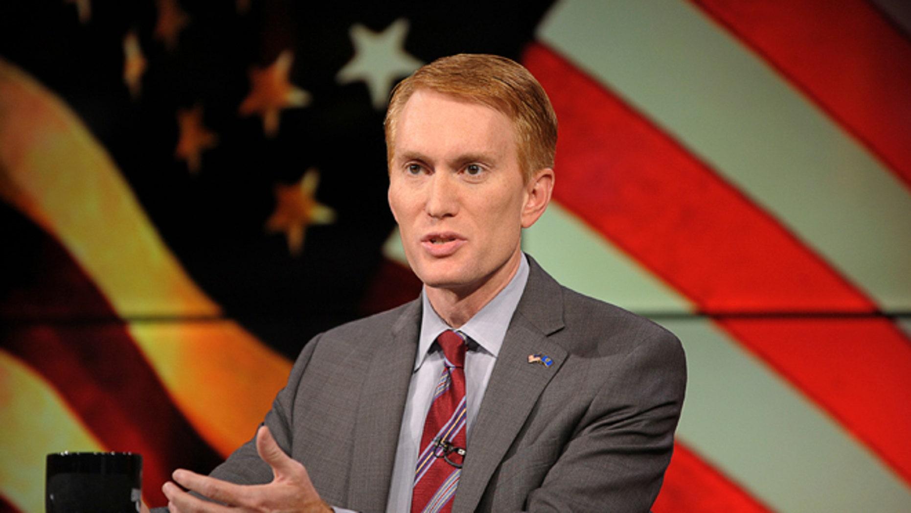Congressman James Lankford (R) participates in the U.S. Senate debate in Tulsa, Oklahoma, June 18, 2014.  REUTERS/Nick Oxford  (UNITED STATES - Tags: POLITICS) - RTR3UJXM