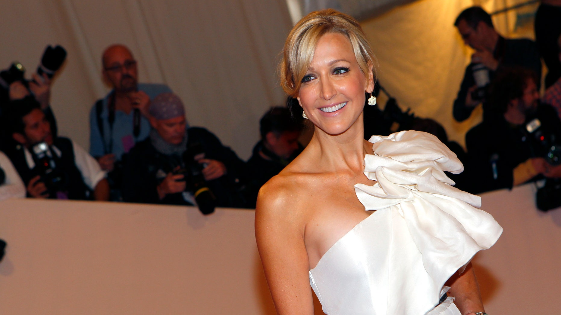 May 2, 2011. Television hostess Lara Spencer arrives at the Metropolitan Museum of Art Costume Institute Benefit celebrating the opening of Alexander McQueen: Savage Beauty, in New York.