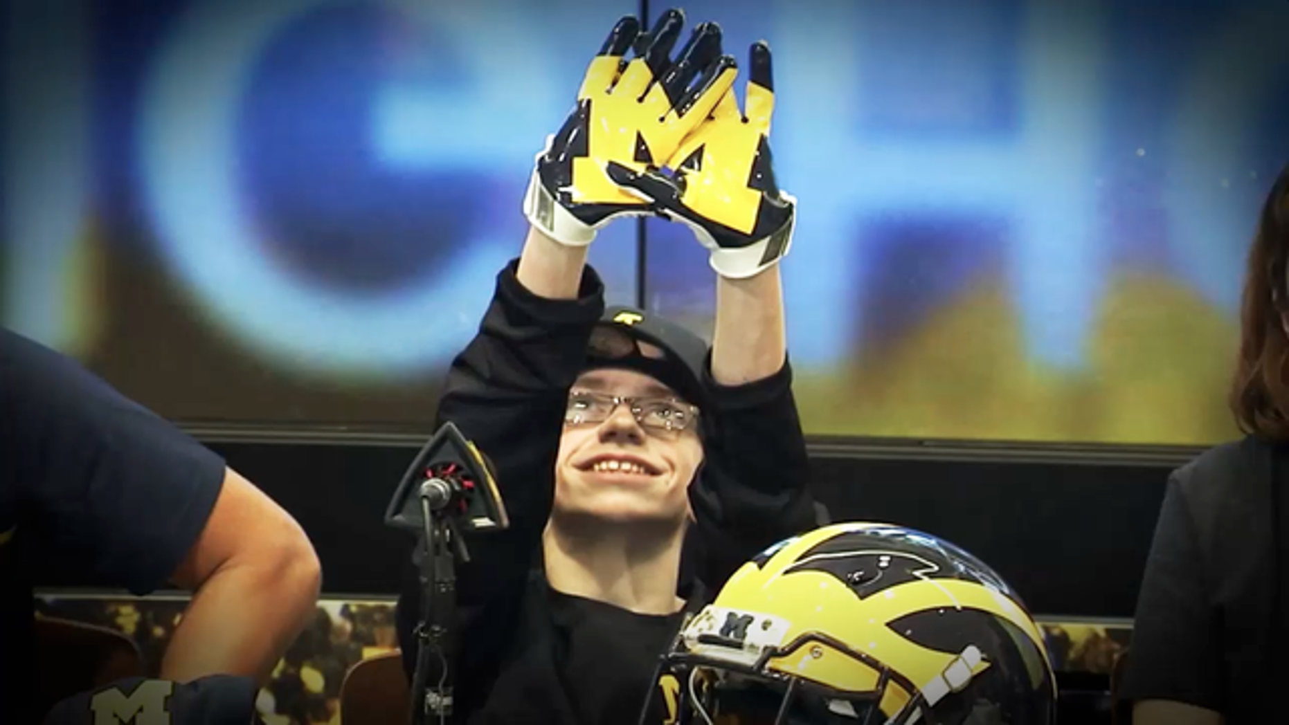 Larry Prout Jr. was made an honorary member of the Michigan Wolverines.