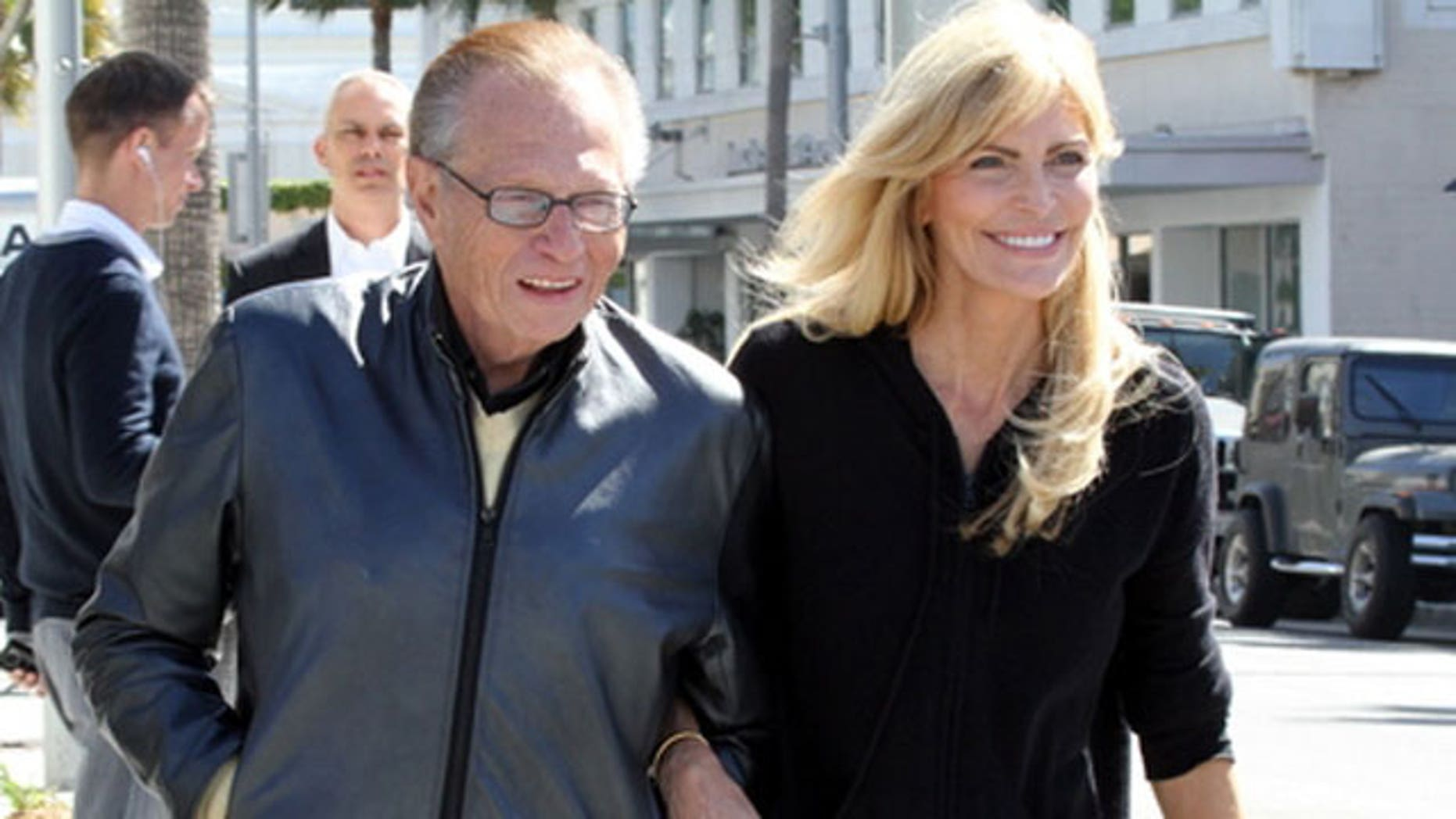 Larry King and wife Shawn Southwick on May 12, 2010. (X17online.com)