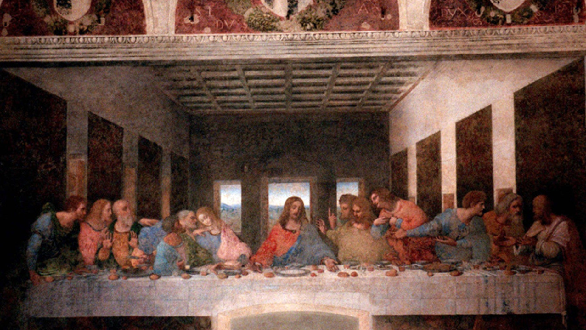 "Leonardo Da Vinci masterpiece ""The Last Supper"" is seen Thursday, May 27, 1999, in downtown Milan's Santa Maria delle Grazie church."