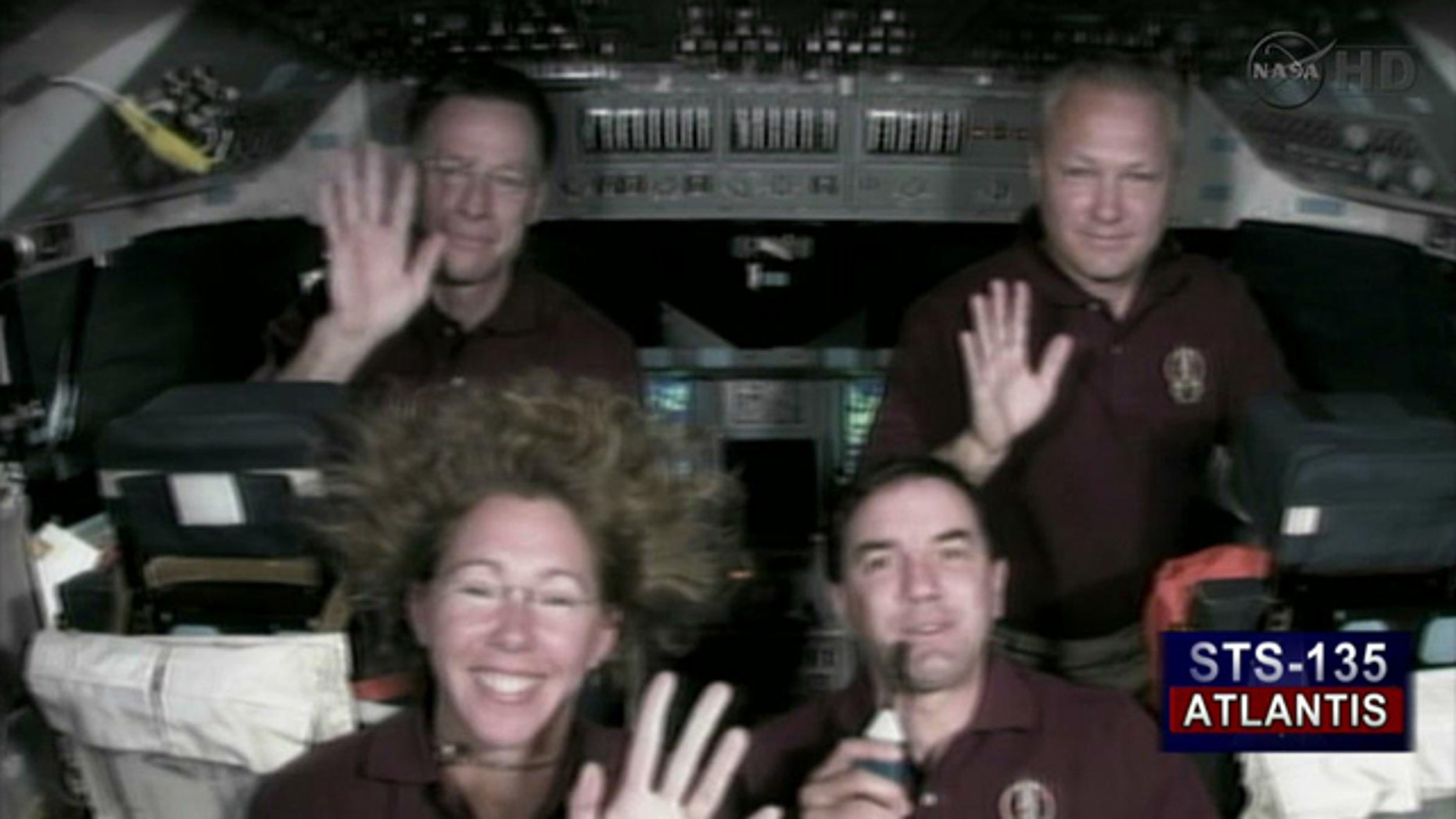 The Final Shuttle Crew (from top left to bottom right): Shuttle Commander Chris Ferguson, Pilot Doug Hurley, Specialist Sandy Magnus, Specialist Rex Walheim